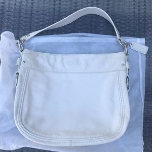 Coach Zoe Hobo Bag in Off-White